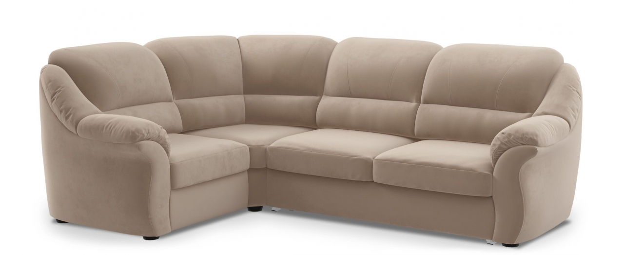 Диван угловой высоковыкатной Бостон 017Гостевой вариант и полноценное спальное место. Размеры 273х190х99 см. Купить бежевый диван высоковыкатной с левым углом в интернет-магазине MOON TRADE.<br>