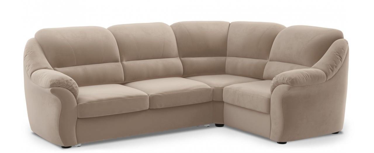 Диван угловой высоковыкатной Бостон 017Гостевой вариант и полноценное спальное место. Размеры 273х190х99 см. Купить бежевый диван высоковыкатной с правым углом в интернет-магазине MOON TRADE.<br>