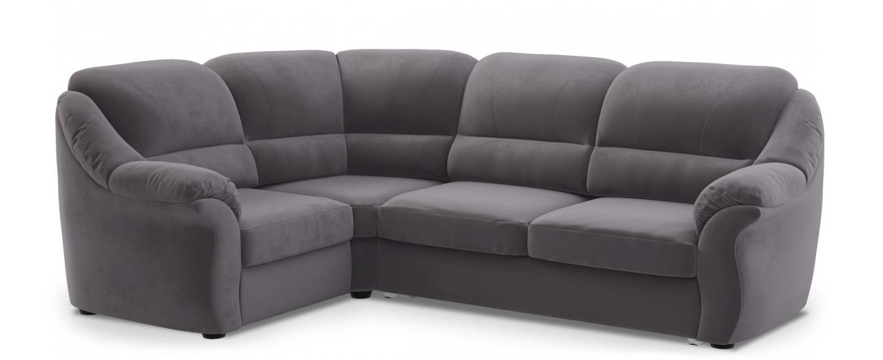 Диван угловой высоковыкатной Бостон 017Гостевой вариант и полноценное спальное место. Размеры 273х190х99 см. Купить серый диван высоковыкатной с левым углом в интернет-магазине MOON TRADE.<br>