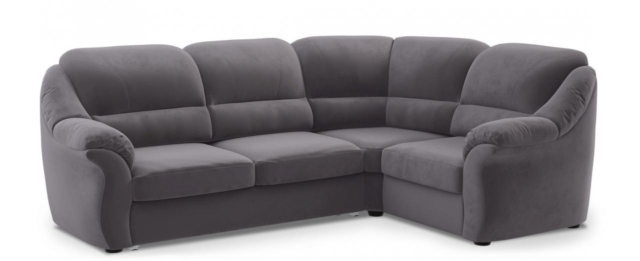 Диван угловой высоковыкатной Бостон 017Гостевой вариант и полноценное спальное место. Размеры 273х190х99 см. Купить серый диван высоковыкатной с правым углом в интернет-магазине MOON TRADE.<br>