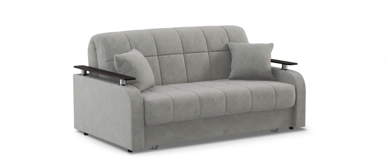 Диван прямой аккордеон Карина 044Гостевой вариант и полноценное спальное место. Размеры 170х104х88 см. Купить серый диван аккордеон с декором венге в интернет-магазине MOON TRADE.<br>