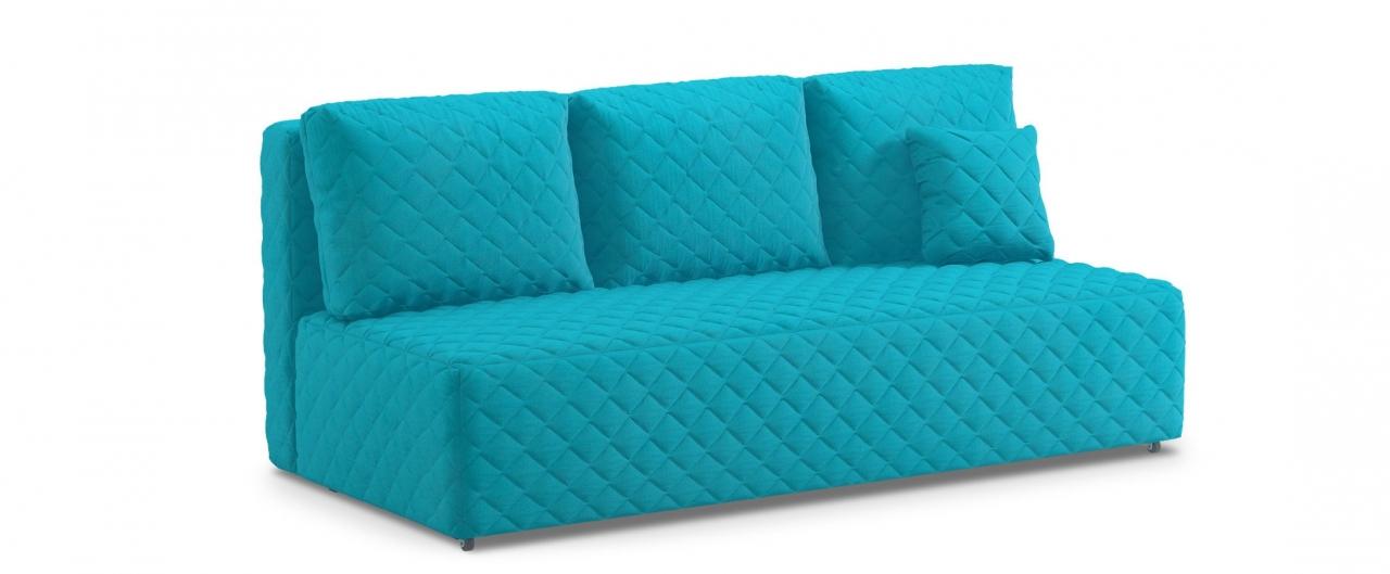 Диван прямой еврокнижка Марсель 087Гостевой вариант и полноценное спальное место. Размеры 207х102х92 см. Купить голубой диван еврокнижка в интернет-магазине MOON TRADE.<br>