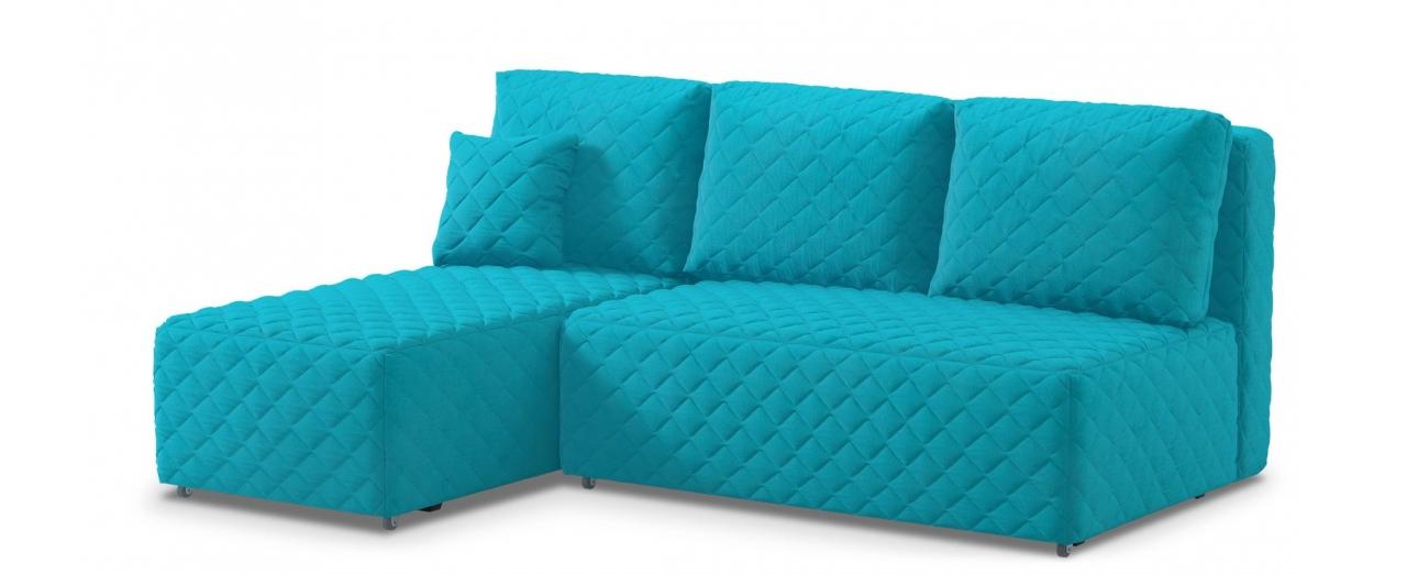 Диван угловой еврокнижка Марсель 087Гостевой вариант и полноценное спальное место. Размеры 217х163х94 см. Купить голубой диван с левым углом еврокнижка в интернет-магазине MOON TRADE.<br>