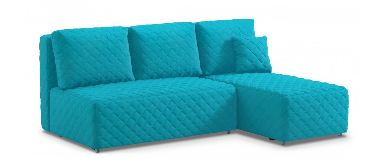 Диван угловой еврокнижка Марсель 087Гостевой вариант и полноценное спальное место. Размеры 217х163х94 см. Купить голубой диван с правым углом еврокнижка в интернет-магазине MOON TRADE.<br>