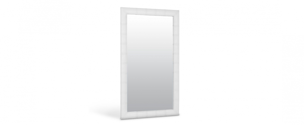 Зеркало Кааба большое марципанЗеркало навесное в спальню. Обивка из экокожи. Артикул: К000446<br>