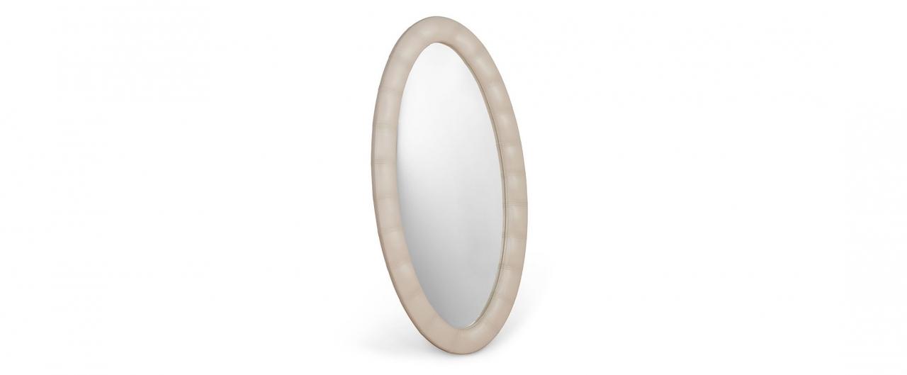 Зеркало Люнетта суфлеЗеркало навесное в спальню. Обивка из экокожи. Артикул: К000452<br>