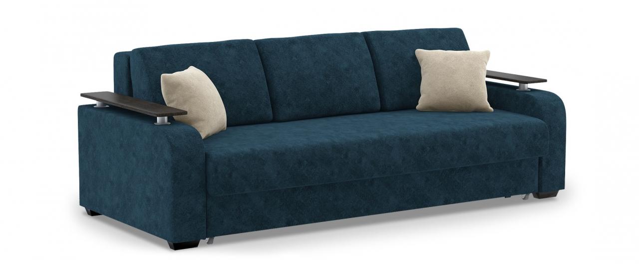 Диван прямой еврокнижка Марракеш 044Гостевой вариант и полноценное спальное место. Размеры 237х108х88 см. Купить синий диван еврокнижка в интернет-магазине MOON TRADE.<br>