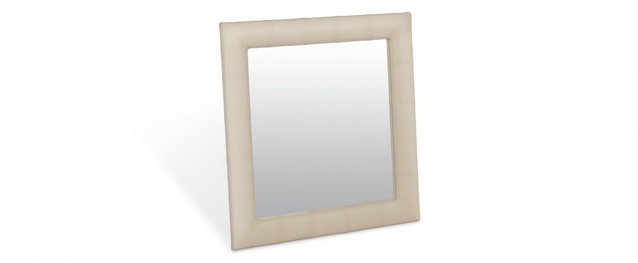 Зеркало Кааба квадратное суфлеЗеркало навесное в спальню. Обивка из экокожи. Артикул: К000483<br>