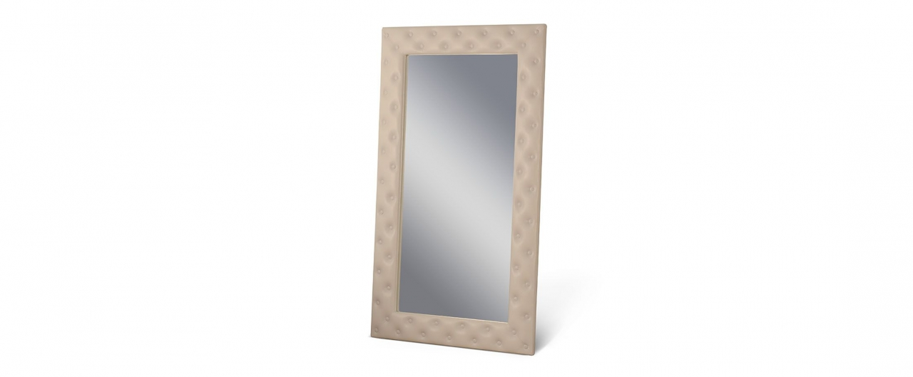 Зеркало Кааба большое с пуговицами суфлеЗеркало навесное в спальню. Обивка из экокожи с декоративными пуговицами. Артикул: К000488<br>