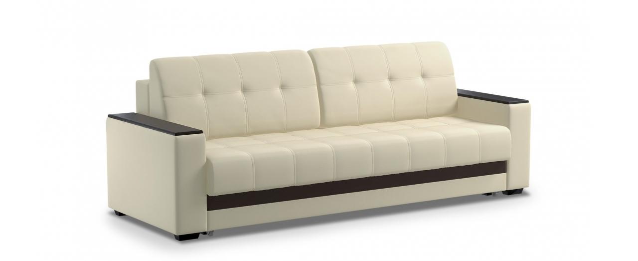 Диван прямой еврокнижка Атланта 066Гостевой вариант и полноценное спальное место. Размеры 241х93х86 см. Купить светло-бежевый диван еврокнижка в интернет-магазине MOON-TRADE.RU.<br>