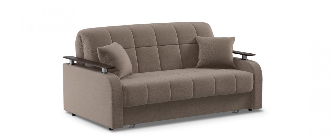 Диван прямой аккордеон Карина 044Гостевой вариант и полноценное спальное место. Размеры 170х104х88 см. Купить коричневый диван аккордеон с декором венге в интернет-магазине MOON TRADE.<br>