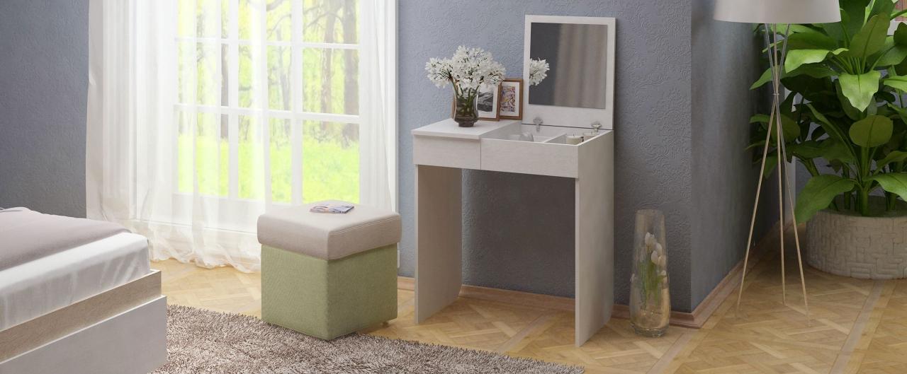 Туалетный столик Риано 1 Модель 800Туалетные столики «Риано» — изящное и стильное решение для современной спальни и других помещений.<br>