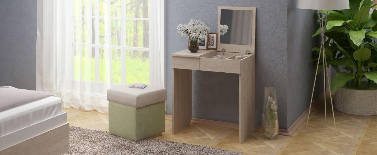 Купить Туалетный столик Риано 1 Модель 800 в интернет магазине корпусной и мягкой мебели для дома и дачи