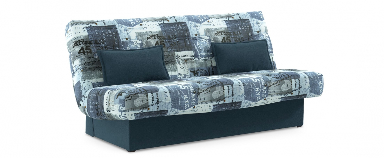 Диван прямой клик-кляк Баккара 037Гостевой вариант и полноценное спальное место. Размеры 200х108х105 см. Купить синий диван клик-кляк в интернет-магазине MOON TRADE.<br>