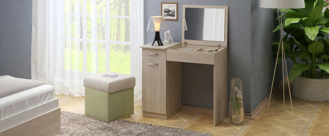 Туалетный столик Риано 3 Модель 801Туалетные столики «Риано» — изящное и стильное решение для современной спальни и других помещений.<br>