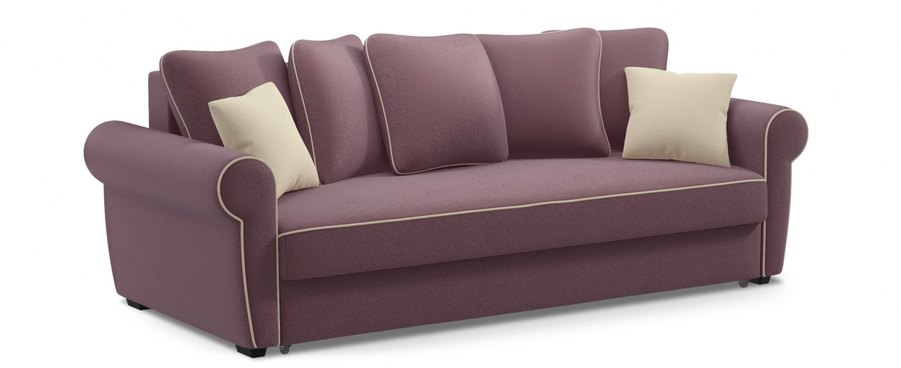 Диван прямой еврокнижка Рейн 123Гостевой вариант и полноценное спальное место. Размеры 243х108х94 см. Купить фиолетовый диван еврокнижка в интернет-магазине MOON TRADE.<br>
