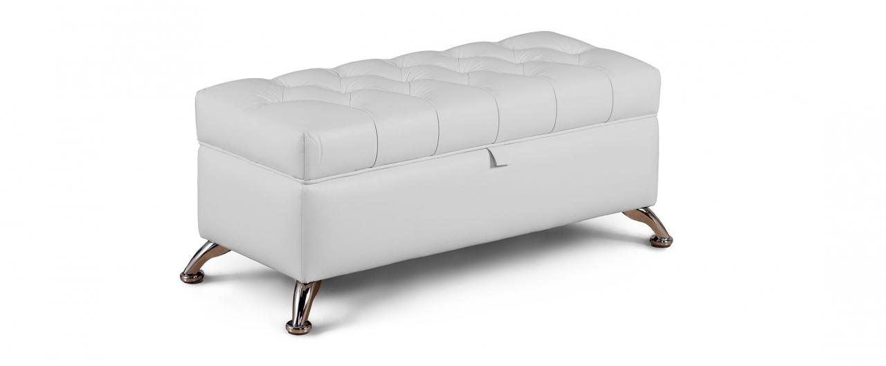 Купить Банкетка Рондель молоко Модель 581 в интернет магазине корпусной и мягкой мебели для дома и дачи