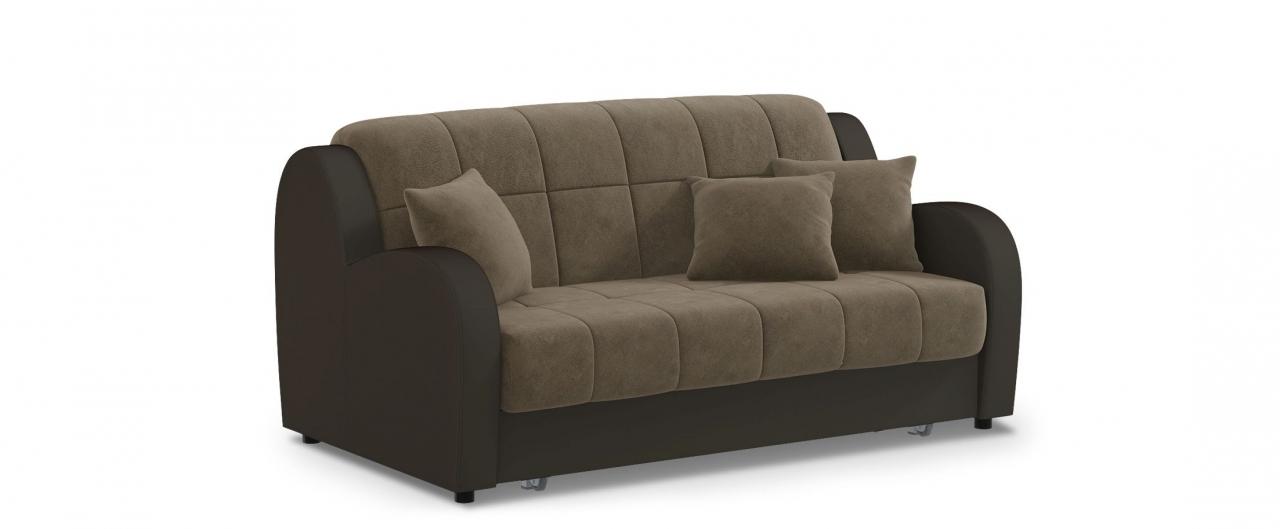 Диван прямой аккордеон Барон 022Гостевой вариант и полноценное спальное место. Размеры 173х104х88 см. Купить коричневый диван аккордеон в интернет-магазине MOON-TRADE.RU.<br>