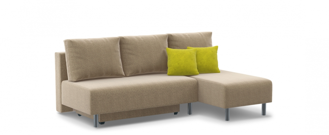 Диван угловой еврокнижка Парма 049Гостевой вариант и полноценное спальное место. Размеры 206х136х87 см. Купить бежевый диван еврокнижка в интернет-магазине MOON TRADE.<br>