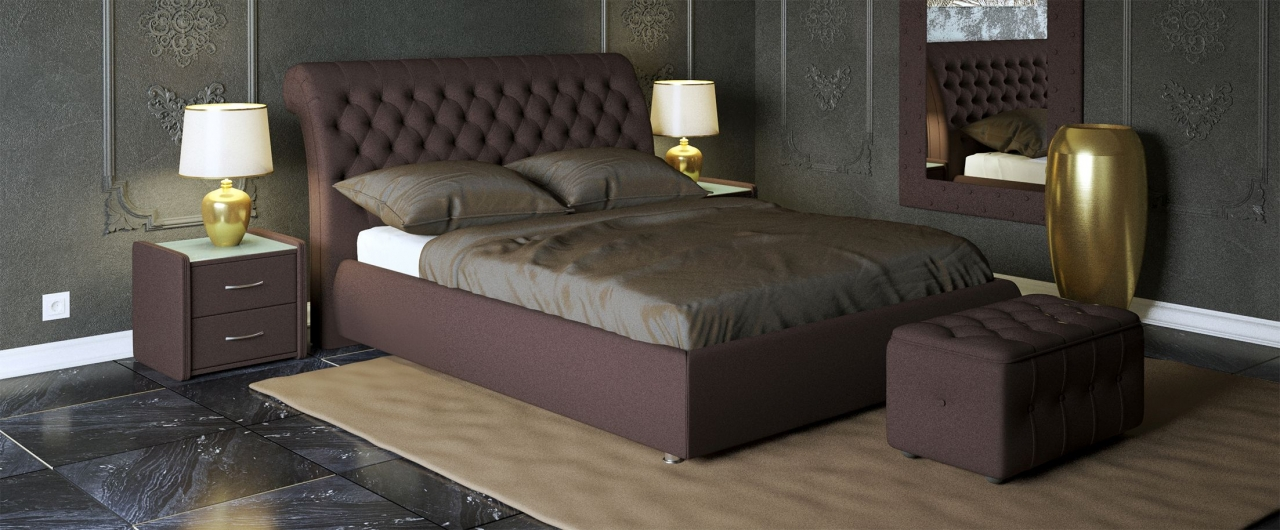 Купить Кровать двуспальная Эрмитаж Модель 587 в интернет магазине корпусной и мягкой мебели для дома и дачи