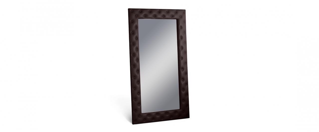 Купить Зеркало Кааба большое с пуговицами кофе в интернет магазине корпусной и мягкой мебели для дома и дачи