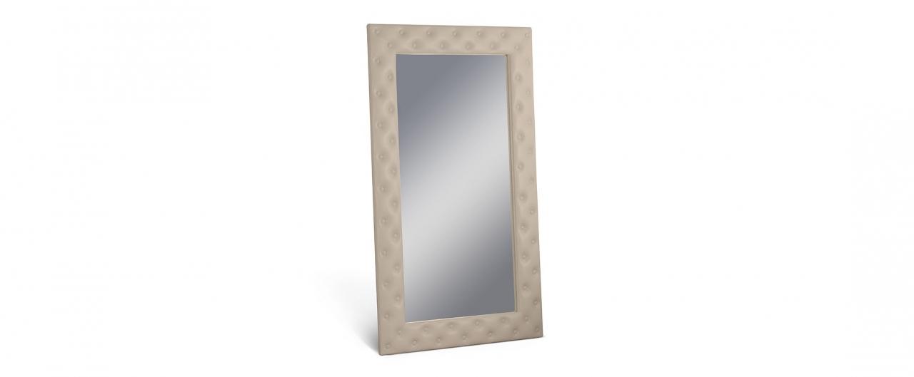 Зеркало Кааба большое с пуговицами рожьЗеркало навесное в спальню. Обивка из экокожи с декоративными пуговицами. Артикул: К000487<br>