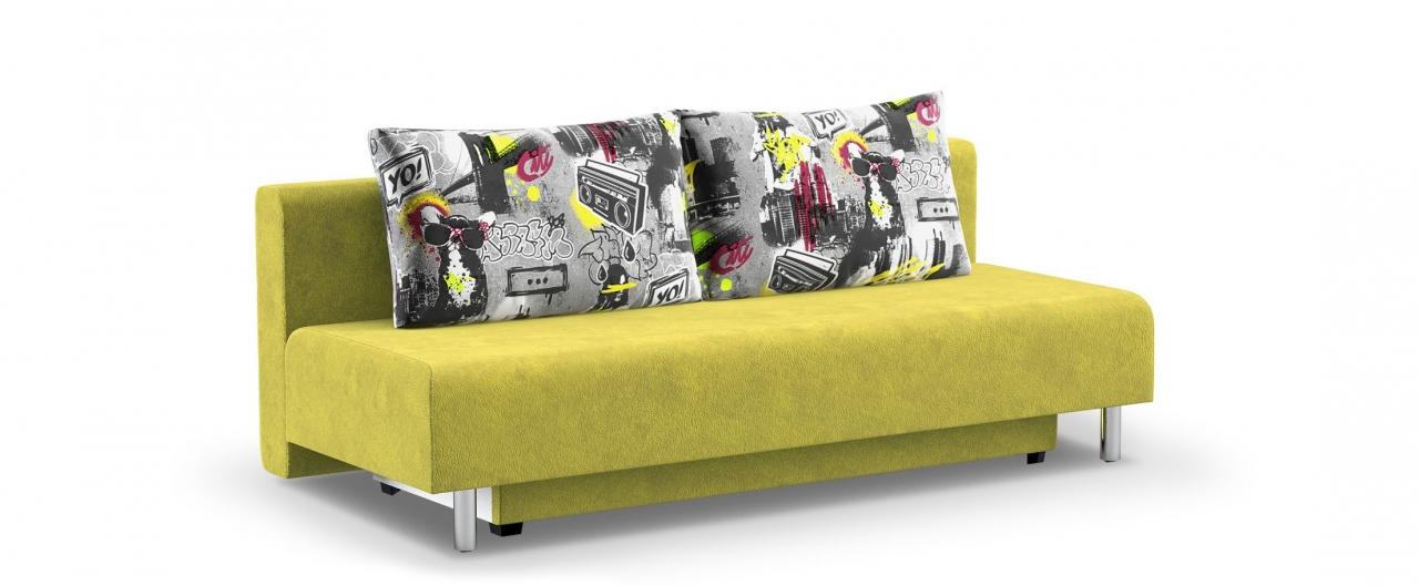 Диван прямой еврокнижка Парма 049Гостевой вариант и полноценное спальное место. Размеры 205х88х87 см. Купить желтый диван еврокнижка в интернет-магазине MOON TRADE.<br>