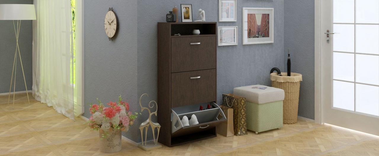 Купить Обувница Милан 26 Модель 818 в интернет магазине корпусной и мягкой мебели для дома и дачи