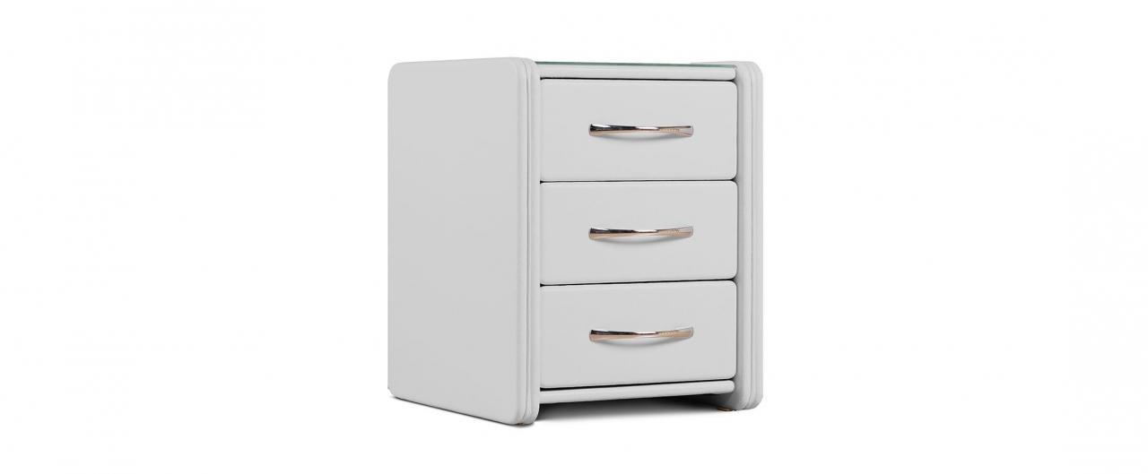 Купить Тумба прикроватная Кааба-3 молоко Модель 384 в интернет магазине корпусной и мягкой мебели для дома и дачи