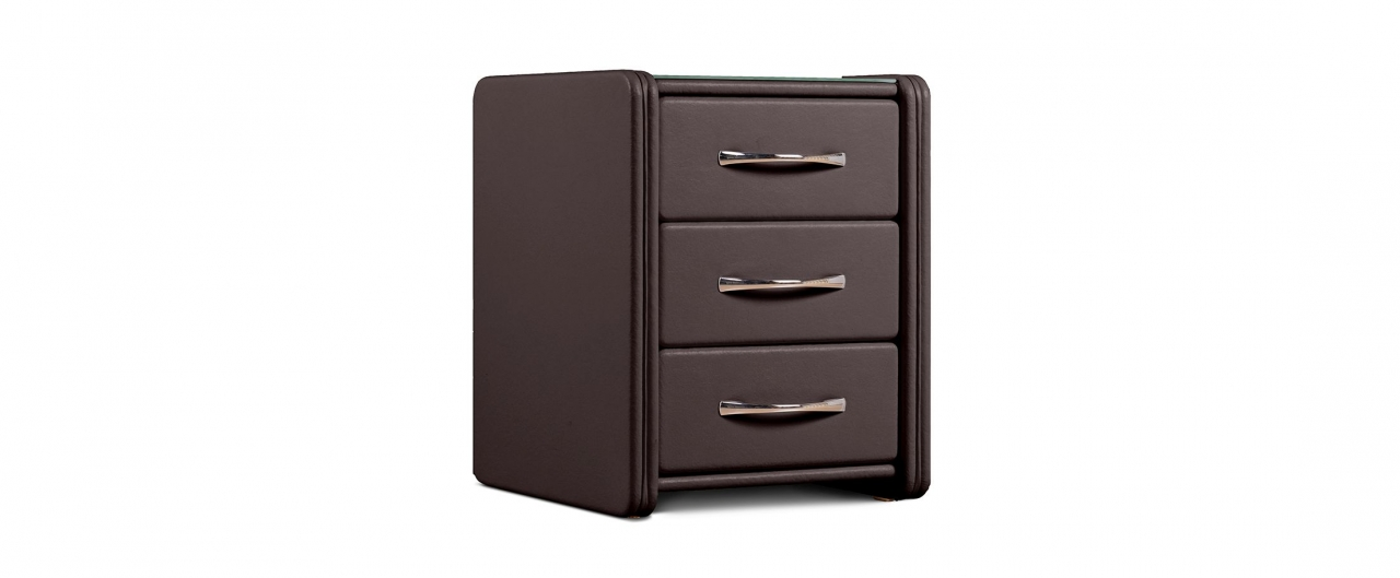 Купить Тумба прикроватная Кааба-3 кофе Модель 384 в интернет магазине корпусной и мягкой мебели для дома и дачи