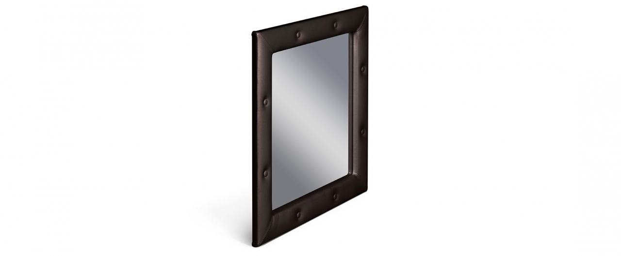 Зеркало Кааба пралинеЗеркало навесное в спальню. Обивка из экокожи с декоративными пуговицами. Артикул: К000545<br>