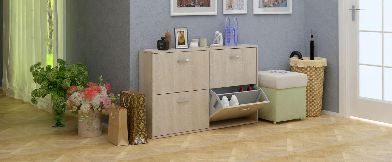Купить Обувница Милан 29 Модель 821 в интернет магазине корпусной и мягкой мебели для дома и дачи