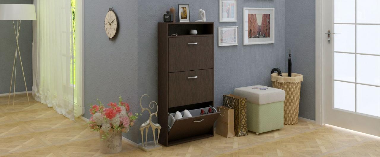 Купить Обувница Милан 26 узкая Модель 824 в интернет магазине корпусной и мягкой мебели для дома и дачи