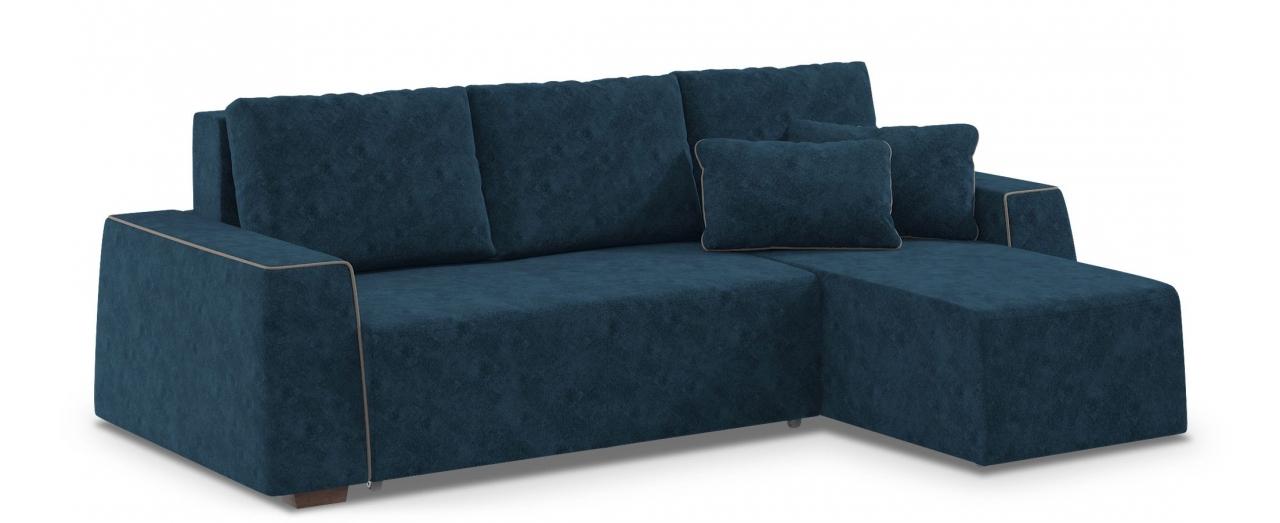 Диван угловой Манхэттен 067Гостевой вариант и полноценное спальное место. Размеры 258х168х88 см. Купить синий диван еврокнижка с универсальным углом в интернет-магазине MOON TRADE.<br>