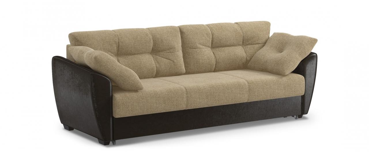 Диван прямой еврокнижка Амстердам 051Гостевой вариант и полноценное спальное место. Размеры 241х93х87 см. Купить бежевый диван еврокнижка в интернет-магазине MOON TRADE.<br>