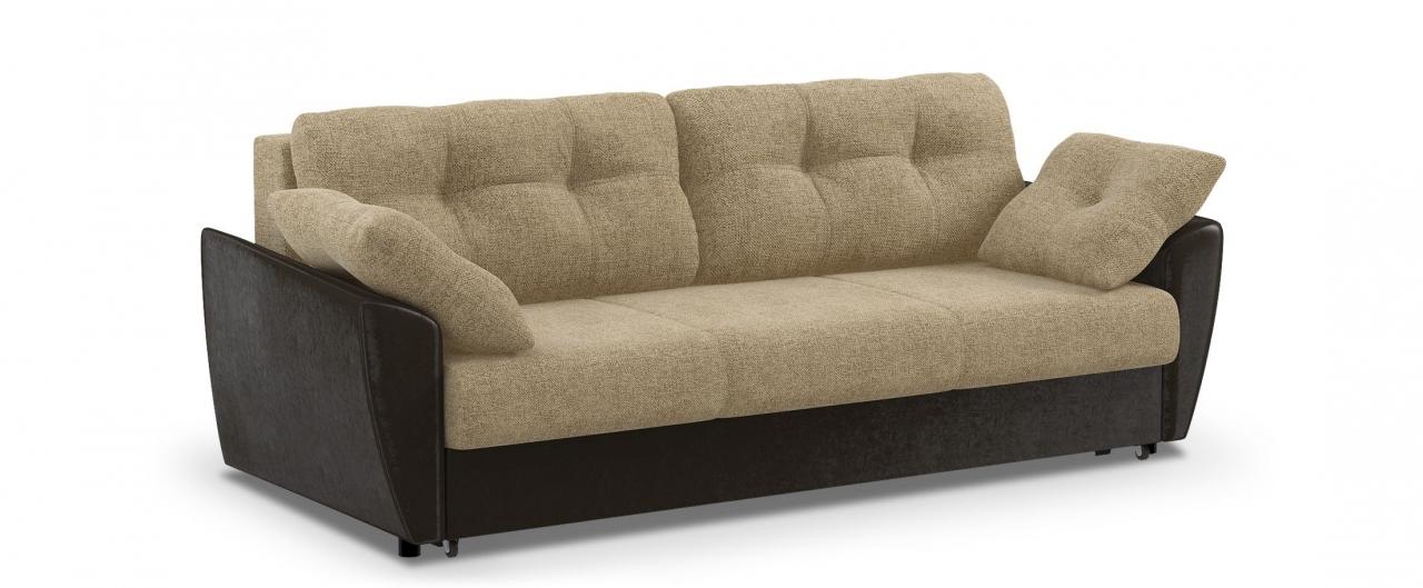 Диван прямой еврокнижка Амстердам Next 051Гостевой вариант и полноценное спальное место. Купить бежевый диван еврокнижка в интернет-магазине MOON TRADE.<br>