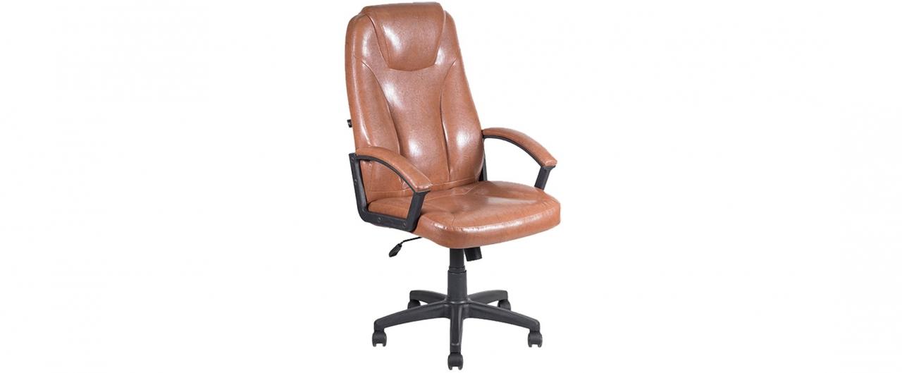 Кресло офисное AV 115 из экокожи цвет коньяк Модель 999Кресло офисное AV 115 из экокожи цвет коньяк Модель 999. Артикул Д000686<br>