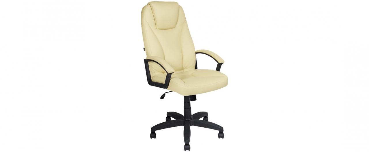 Кресло офисное AV 115 из экокожи цвет слоновая кость Модель 999Кресло офисное AV 115 из экокожи цвет слоновая кость Модель 999. Артикул Д000685<br>