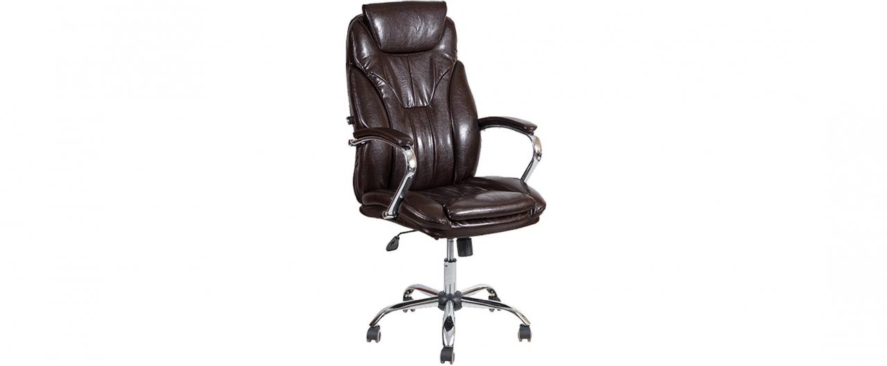 Кресло офисное AV 117 из экокожи цвет шоколад Модель 999Кресло офисное AV 117 из экокожи цвет шоколад Модель 999. Артикул Д000693<br>