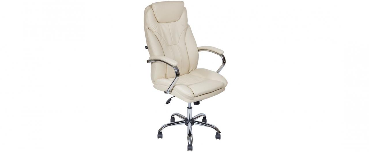 Купить Кресло офисное AV 117 из экокожи цвет слоновая кость Модель 999 в интернет магазине корпусной и мягкой мебели для дома и дачи