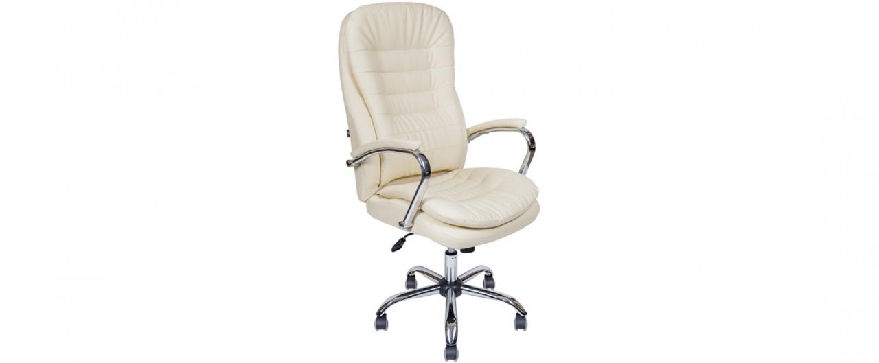 Купить Кресло офисное AV 118 из экокожи цвет слоновая кость Модель 999 в интернет магазине корпусной и мягкой мебели для дома и дачи