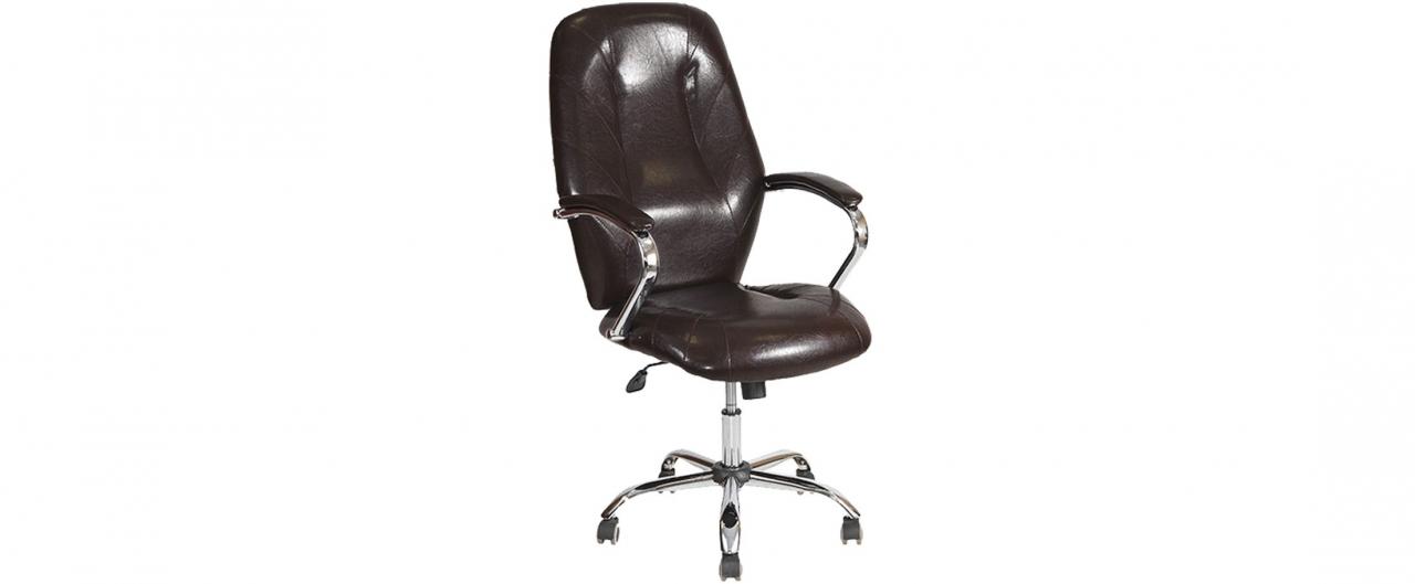 Кресло офисное AV 119 из экокожи цвет шоколад Модель 999Кресло офисное AV 119 из экокожи цвет шоколад Модель 999. Артикул Д000700<br>