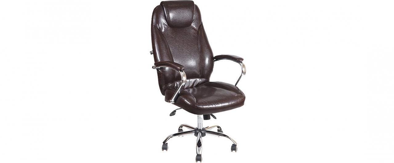 Кресло офисное AV 122 из экокожи цвет шоколад Модель 999Кресло офисное AV 122 из экокожи цвет шоколад Модель 999. Артикул Д000708<br>