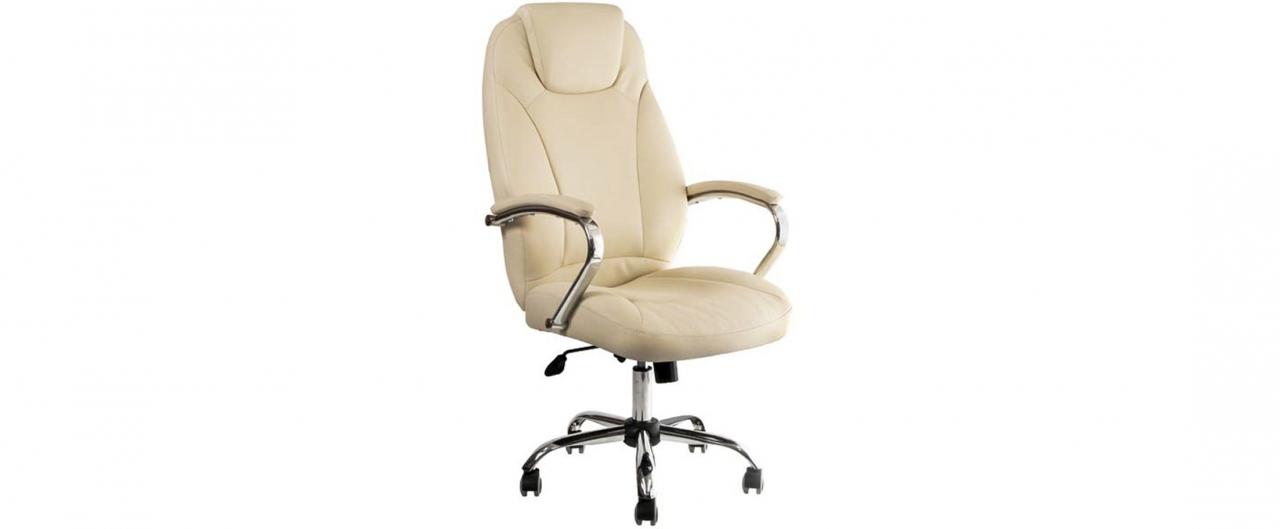 Кресло офисное AV 122 из экокожи цвет слоновая кость Модель 999Кресло офисное AV 122 из экокожи цвет слоновая кость Модель 999. Артикул Д000706<br>