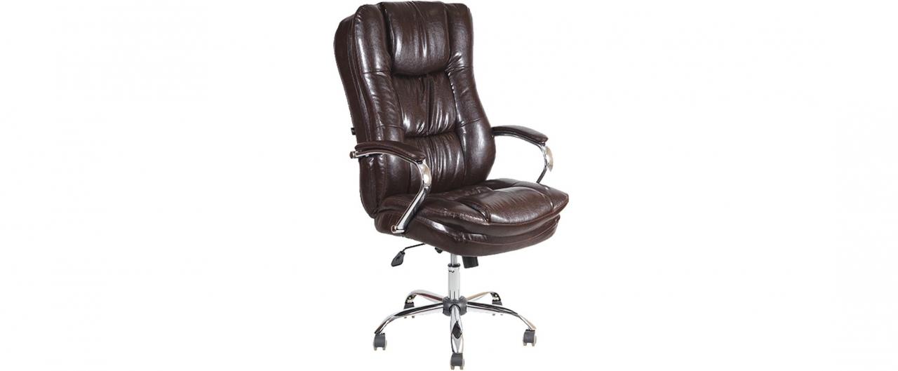 Кресло офисное AV 123 из экокожи цвет шоколад Модель 999Кресло офисное AV 123 из экокожи цвет шоколад Модель 999. Артикул Д000711<br>