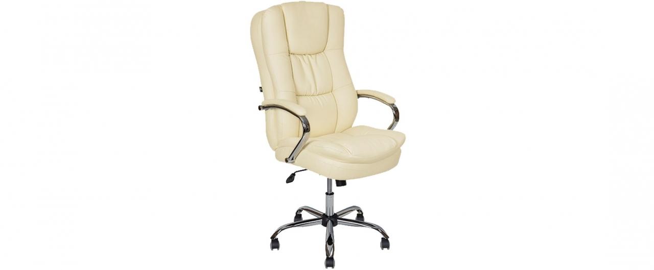 Кресло офисное AV 123 из экокожи цвет слоновая кость Модель 999Кресло офисное AV 123 из экокожи цвет слоновая кость Модель 999. Артикул Д000710<br>