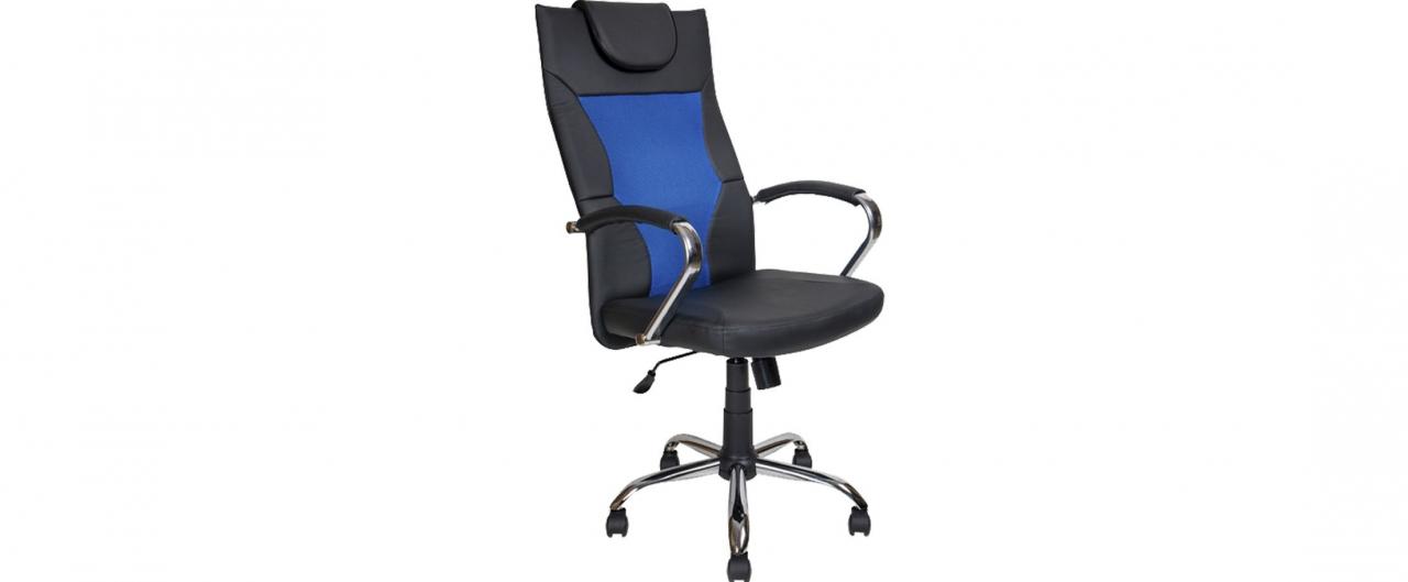 Купить Кресло офисное AV 134 сетка синяя Модель 999 в интернет магазине корпусной и мягкой мебели для дома и дачи