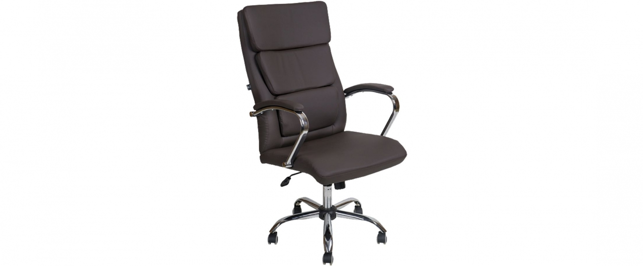 Кресло офисное AV 135 из экокожи цвет шоколад Модель 999Кресло офисное AV 135 из экокожи цвет шоколад Модель 999. Артикул Д000727<br>