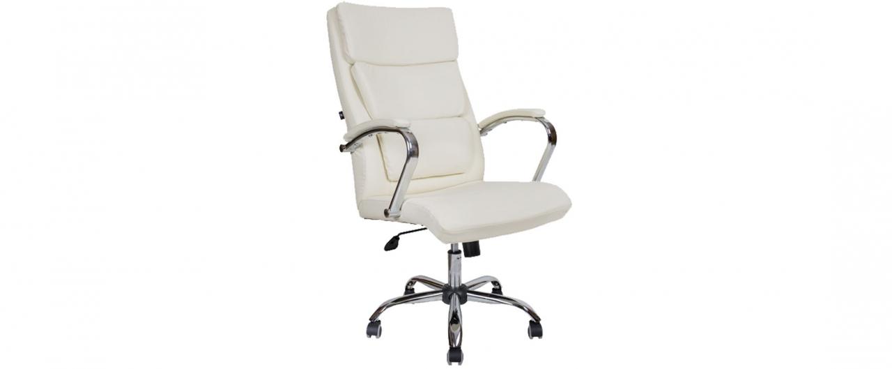 Кресло офисное AV 135 из экокожи цвет слоновая кость Модель 999Кресло офисное AV 135 из экокожи цвет слоновая кость Модель 999. Артикул Д000729<br>