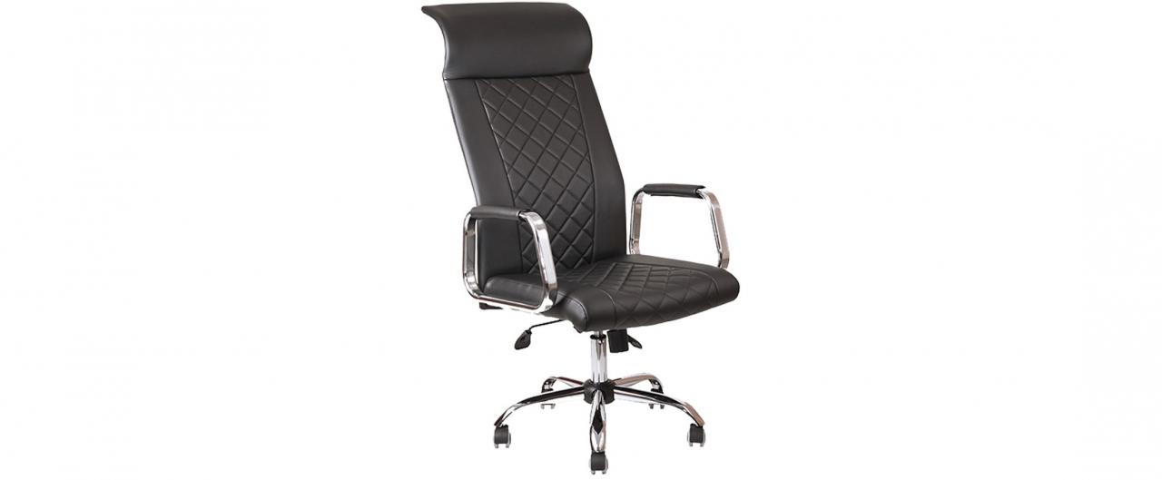 Кресло офисное AV 136 из экокожи цвет черный Модель 999Кресло офисное AV 136 из экокожи цвет черный Модель 999. Артикул Д000733<br>